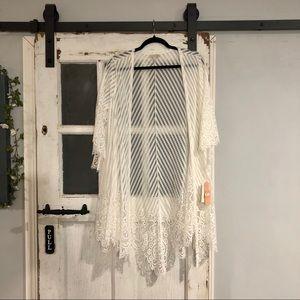 Gianni Bini White Lace Kimono